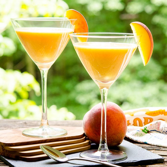 Peaches and Cream Martini | Magnolia Days