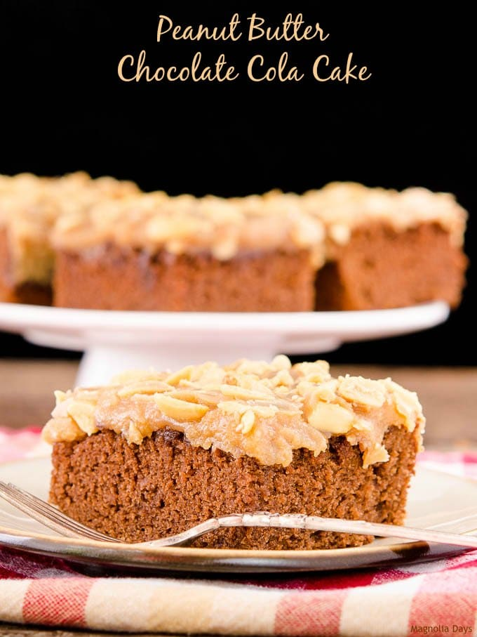 Peanut Butter Chocolate Cola Cake | Magnolia Days