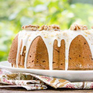Bourbon Walnut Pound Cake for #BundtBakers