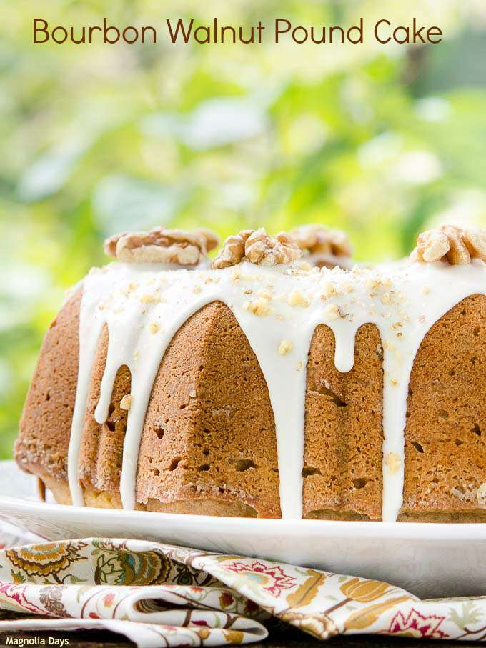 Bourbon Walnut Pound Cake | Magnolia Days