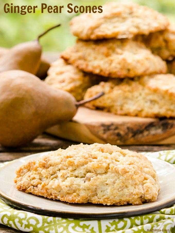 Ginger Pear Scones   Magnolia Days