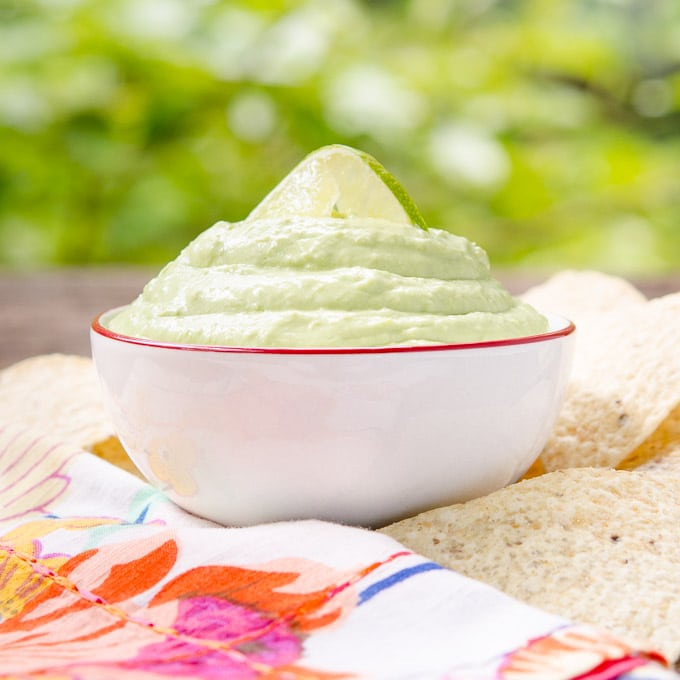 Hatch Chile Avocado Cream Dip | Magnolia Days