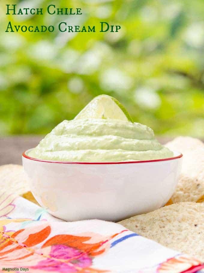 Hatch Chile Avocado Cream Dip   Magnolia Days