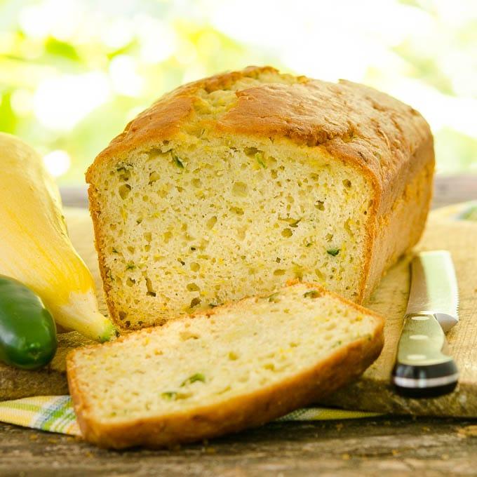 Jalapeño Summer Squash Quick Bread