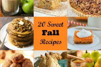 20 Sweet Fall Recipes featuring the wonderful produce of the season.