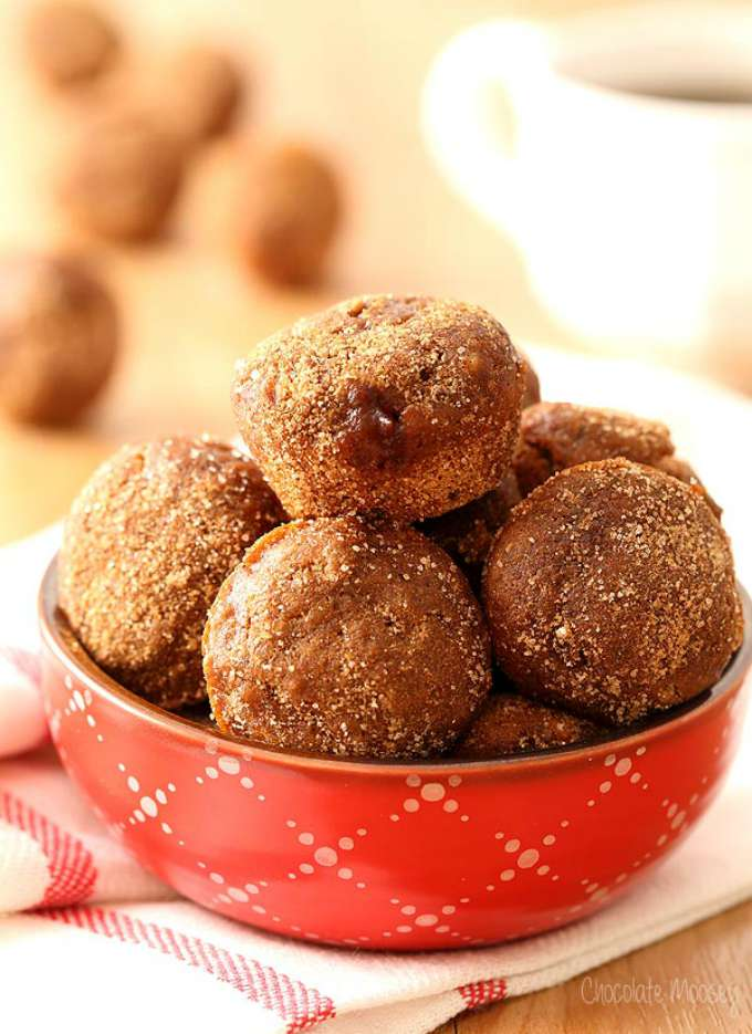 Apple Butter Baked Doughnut Holes by Chocolate Moosey