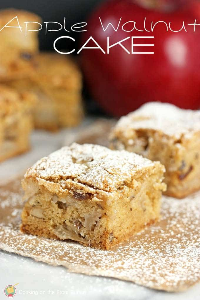Apple Walnut Cake by Cooking on the Front Burner