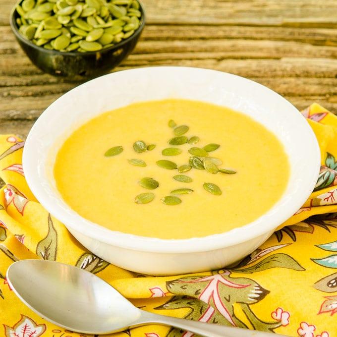 Celeriac Sweet Potato Soup | Magnolia Days