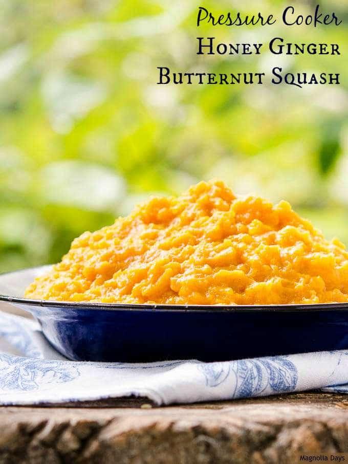 Pressure Cooker Honey Ginger Butternut Squash   Magnolia Days