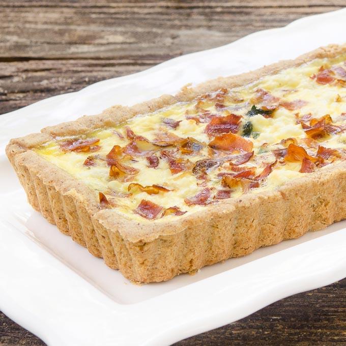 Prosciutto Goat Cheese Tart | Magnolia Days