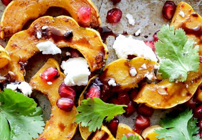 Roasted Squash with Pomegranate and Goat Cheese by Floating Kitchen