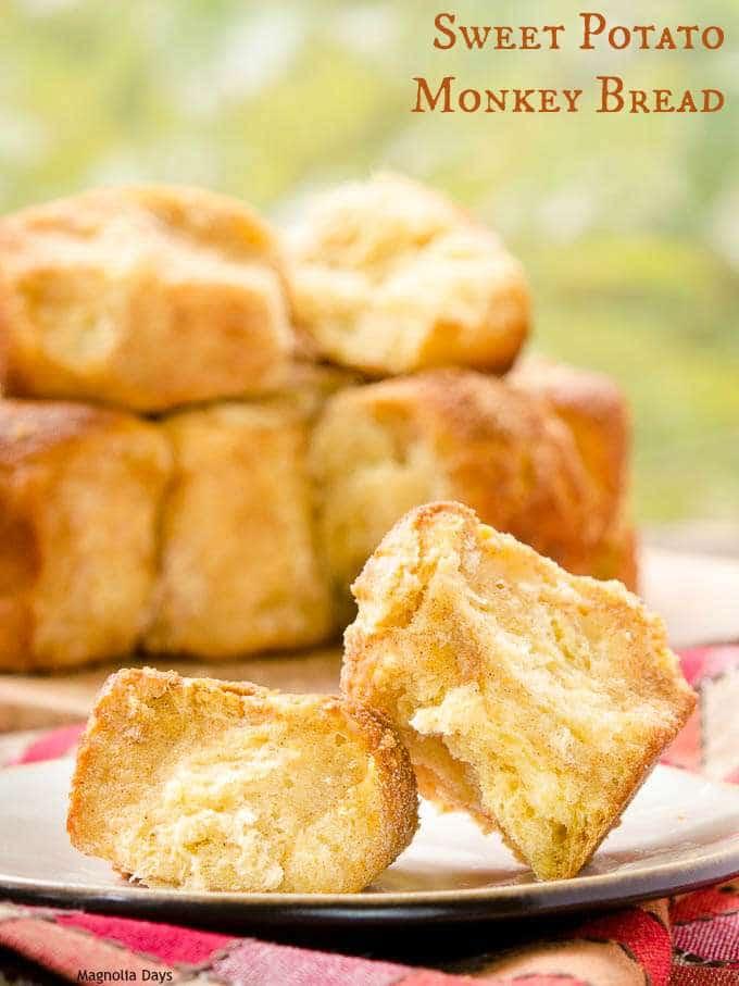 Sweet Potato Monkey Bread   Magnolia Days