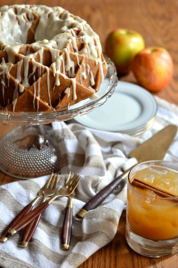 Spiced Apple Cider Bundt Cake with Buttered Bourbon Glaze by Brooklyn Homemaker