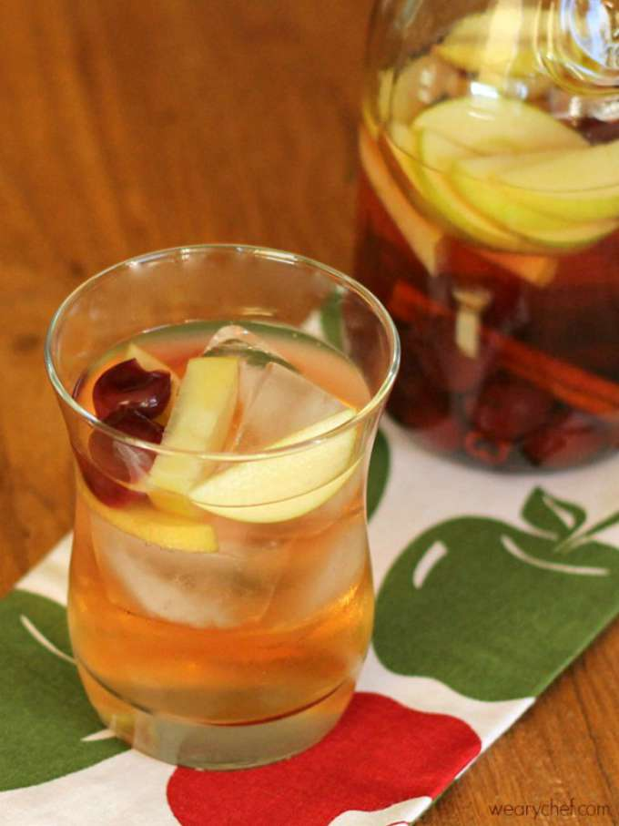 Cherry Apple Sangria by The Weary Chef