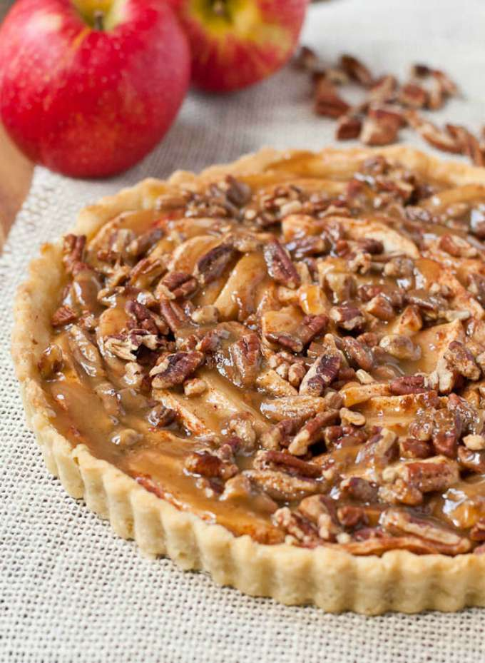 Salted Maple Caramel Apple Pecan Tart by Neighborfood