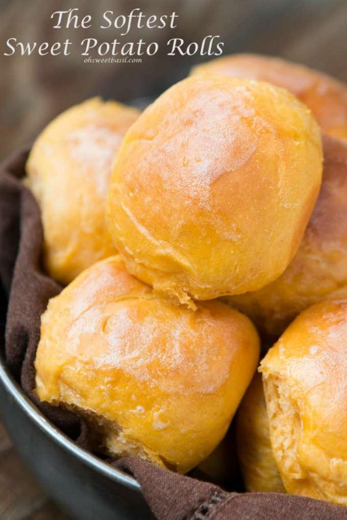 Homemade Sweet Potato Rolls by Oh, Sweet Basil