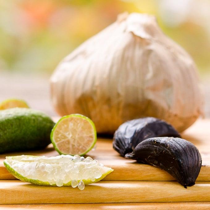 Finger Lime and Black Garlic | Magnolia Days