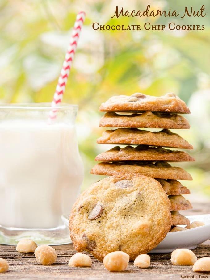 Macadamia Nut Chocolate Chips Cookies   Magnolia Days