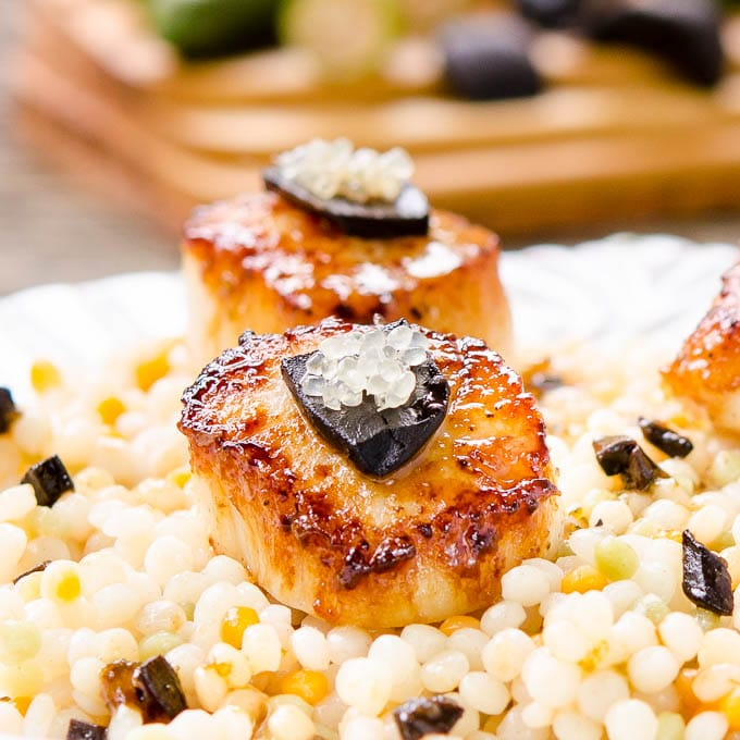 Seared Scallops with Lime Black Garlic Sauce | Magnolia Days