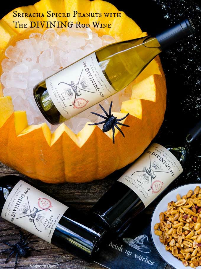 Sriracha Spiced Peanuts with The Divining Rod Wine | Magnolia Days