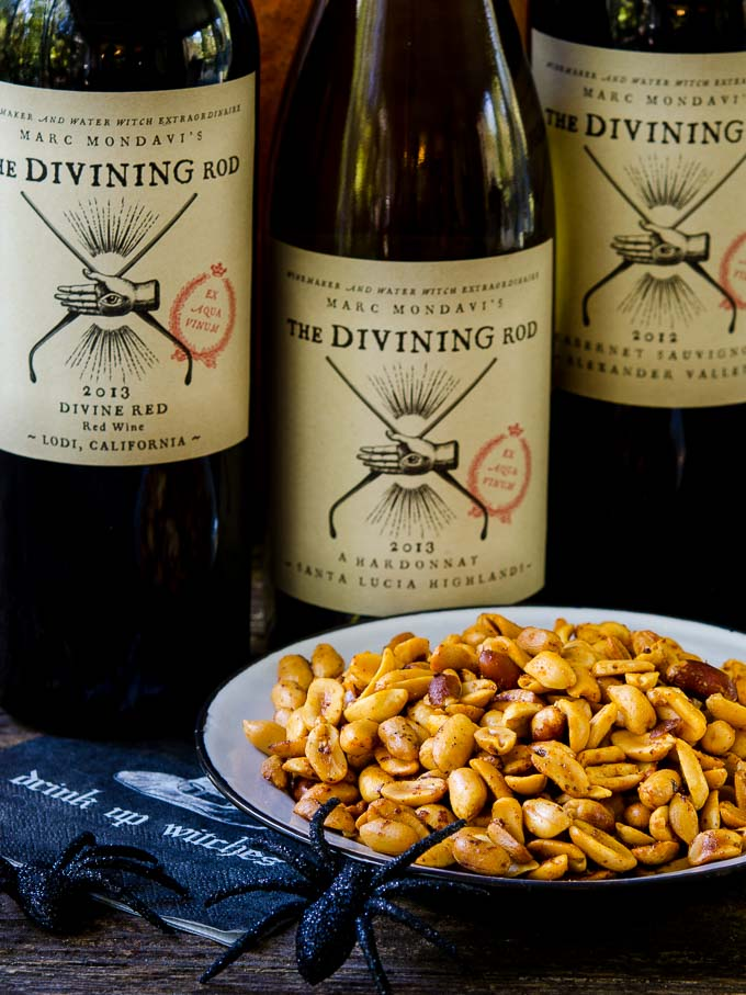 Sriracha Spiced Peanuts with The Divining Rod Wine | Magnolia Days