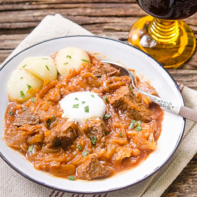 Veal Goulash With Sauerkraut Recipe — Dishmaps