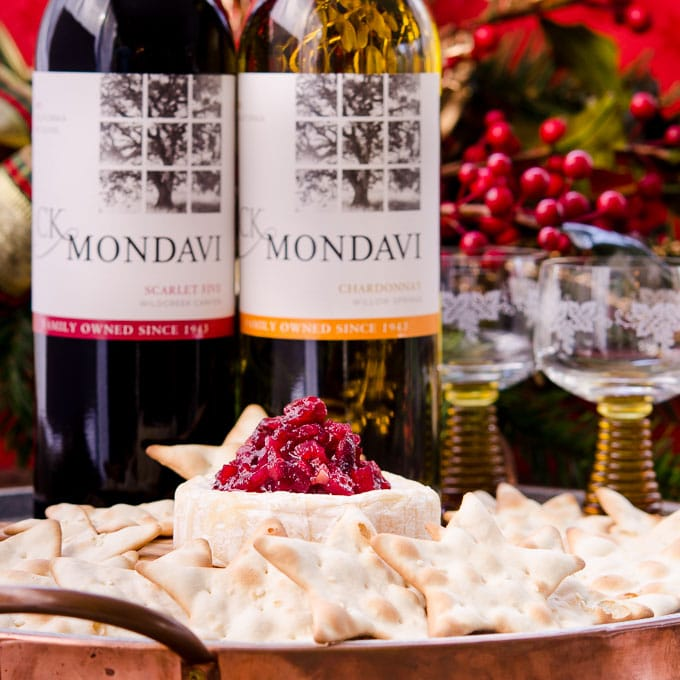 Make Apple Cranberry Chutney and serve it with CK Mondavi Wine, cheese, and crackers for the best holiday party starter.