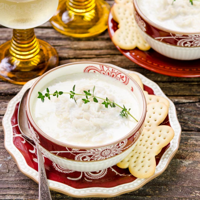 Creamy Crab Soup for Two   Magnolia Days