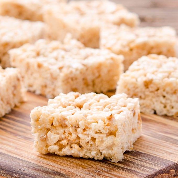 Toffee Chip Rice Krispie Treats - Magnolia Days