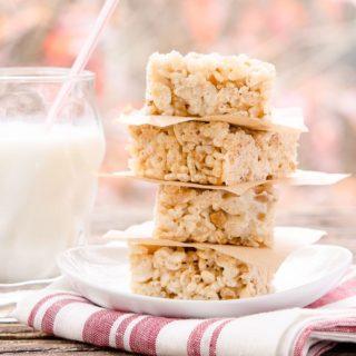 Toffee Chip Rice Krispie Treats