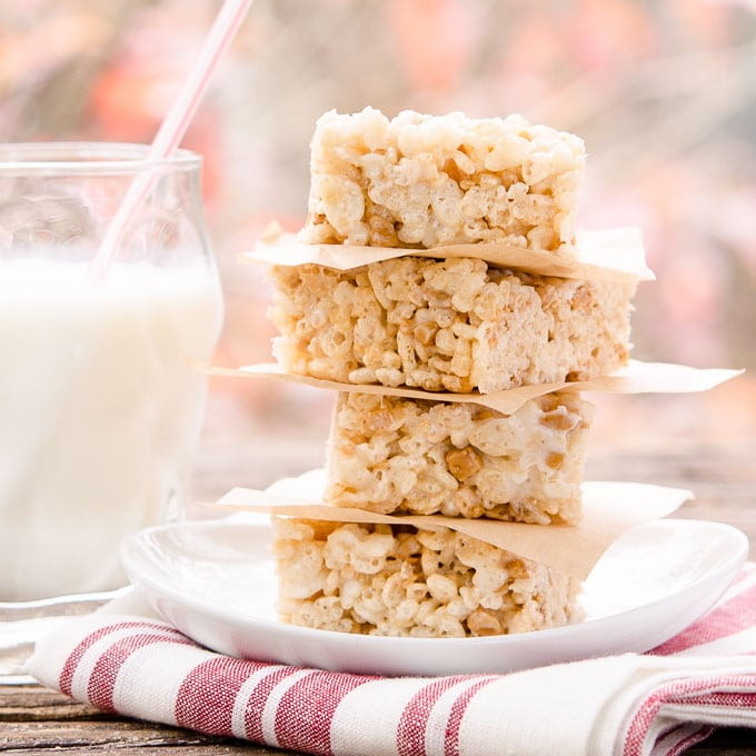 Toffee Chip Rice Krispie Treats | Magnolia Days