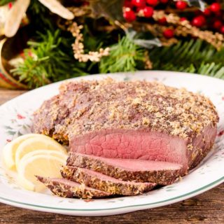 Lemon Pepper Sirloin Tip Roast for #SundaySupper #RoastPerfect