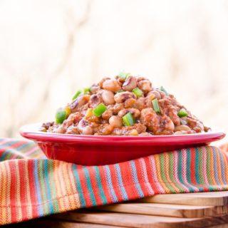 Mexican Chorizo Black-Eyed Peas