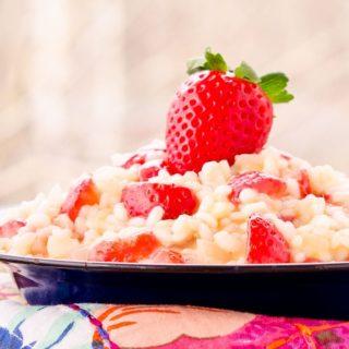 Strawberry Risotto for #SundaySupper #FLStrawberry