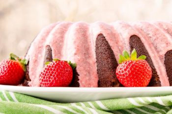 Chocolate Potato Bundt Cake with Strawberry Glaze | Magnolia Days