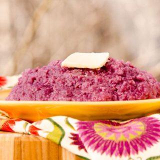 Purple Sweet Potato Grits