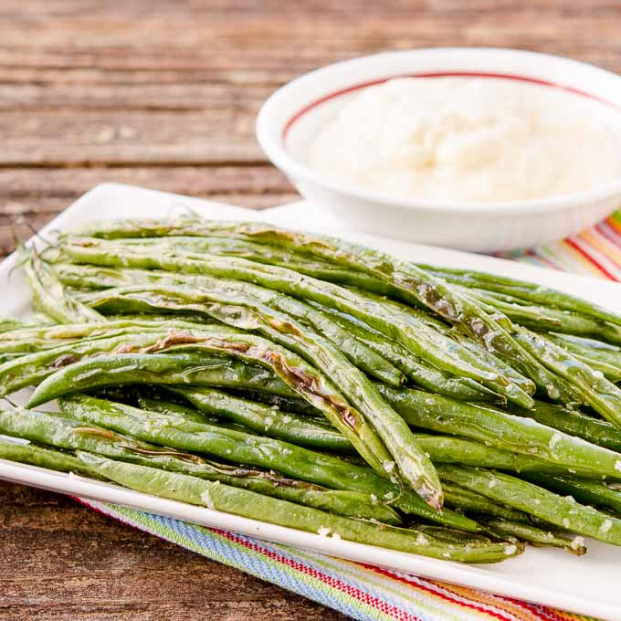 Roasted Green Beans with Horseradish Sauce | Magnolia Days
