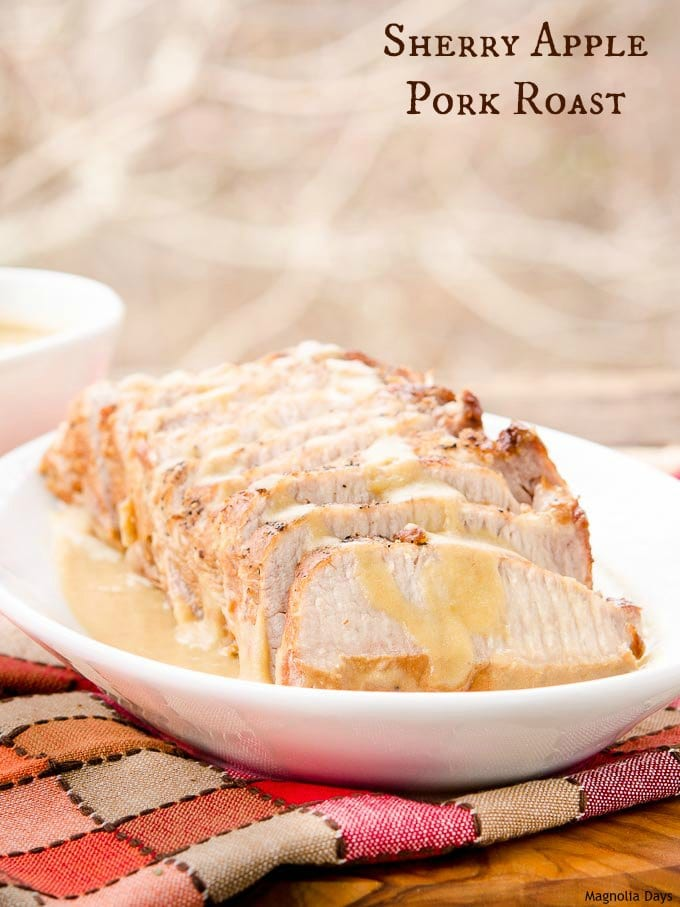 Sherry Apple Pork Roast is a wonderful meal of oven braised pork served with a heavenly sauce made of onion, apples, and sherry.