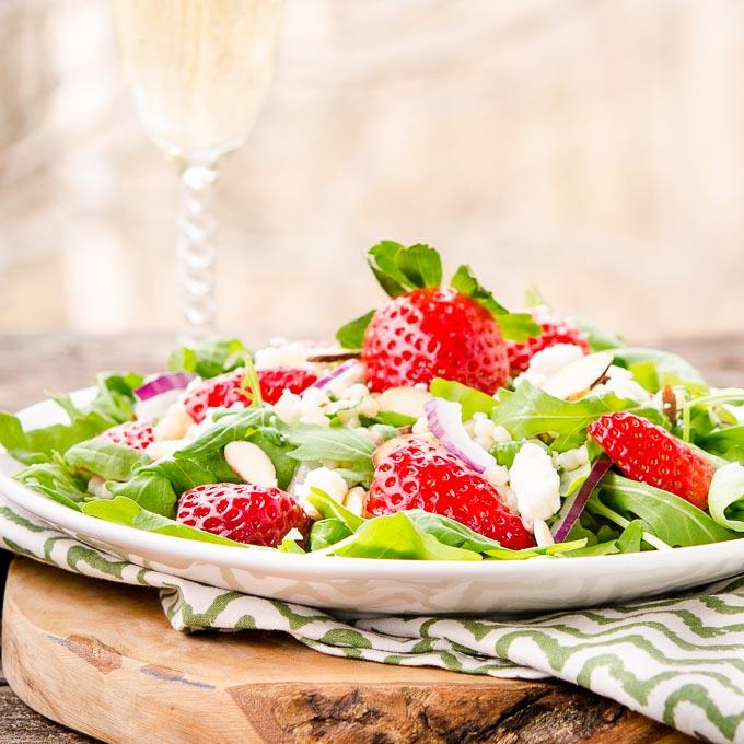 Sparkling Strawberry Salad | Magnolia Days