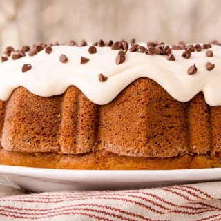 Cinnamon Chocolate Chip Bundt Cake for #BundtBakers