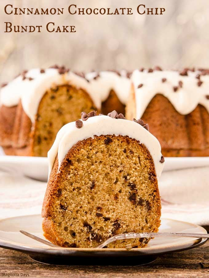 Cinnamon Chocolate Chip Bundt Cake is a delightful dessert with a splendid flavor combination of warm cinnamon and dark chocolate.