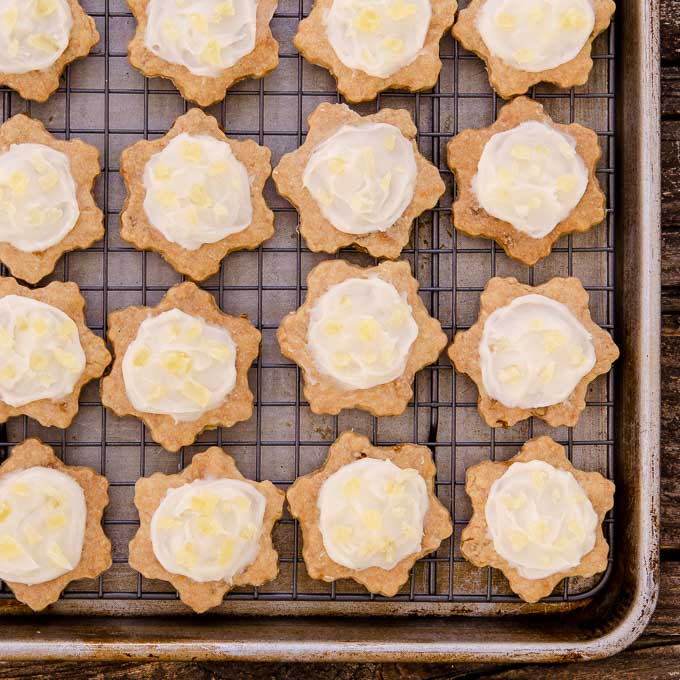 Frosted Pineapple Shortbread Cookies - Magnolia Days