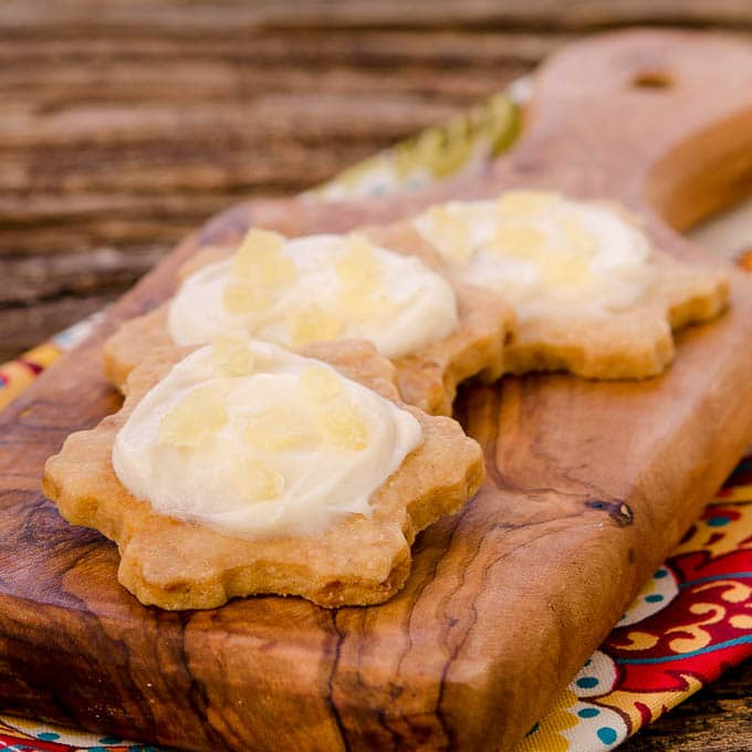 Frosted Pineapple Shortbread Cookies | Magnolia Days