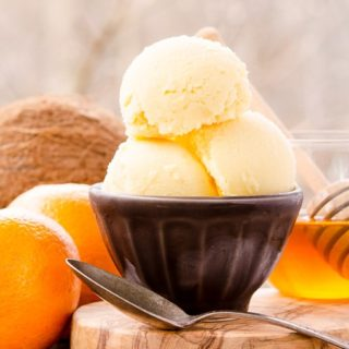 Honey Coconut Tangerine Sorbet