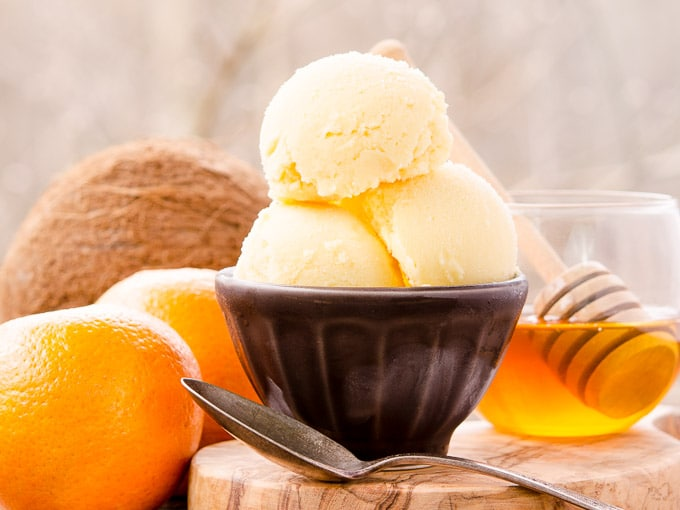 Honey Coconut Tangerine Sorbet | Magnolia Days