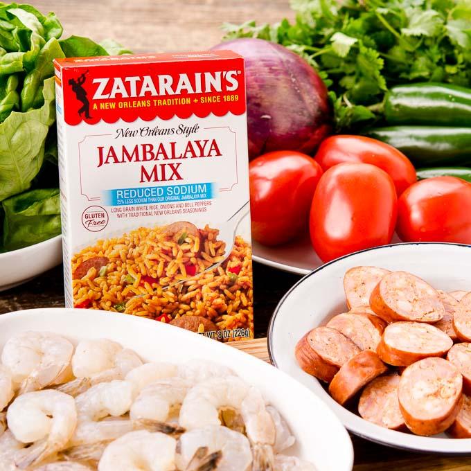 Jambalaya Lettuce Wraps Ingredients   Magnolia Days