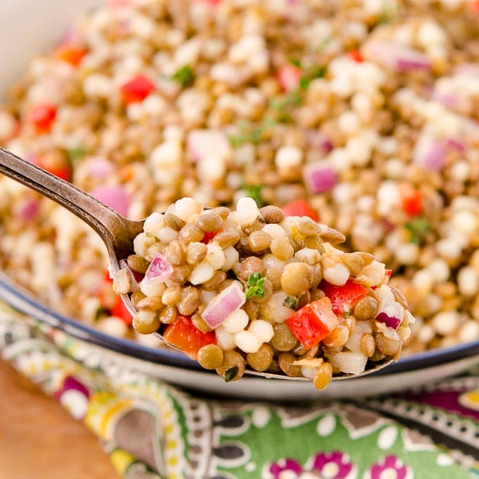 Lemony Couscous Lentil Salad   Magnolia Days