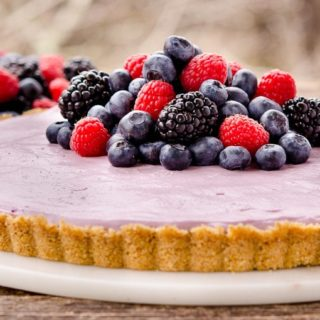 No-Bake Mixed Berry Cream Cheese Tart for #SundaySupper