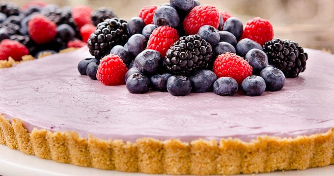 No-Bake Mixed Berry Cream Cheese Tart for #SundaySupper