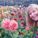 Renee Dobbs with Dahlias